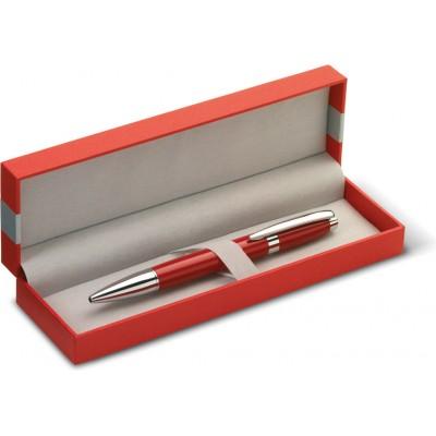 Długopis czerwony w etui