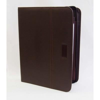 Elegancka teczka A4 czarna zapinana na zamek (T002)
