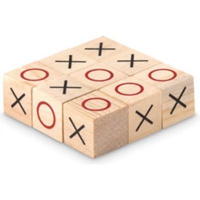 TIC TAC TOE  Drewniana gra w kółko i krzyżyk