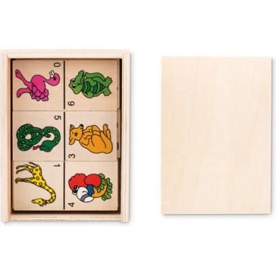 ANIMALS  28-elementowa gra domino dla dzieci