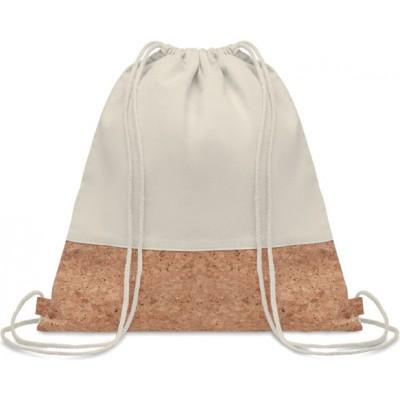 ILLA  Bawełniany worek ze sznurkiem z korkowym wykończeniem