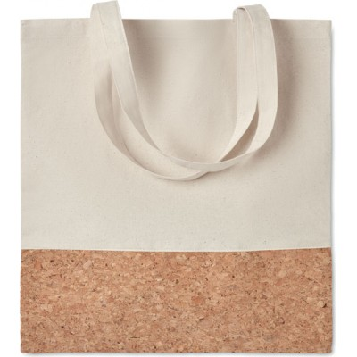 ILLA TOTE Bawełniana torba na zakupy ze wstawką z korka.