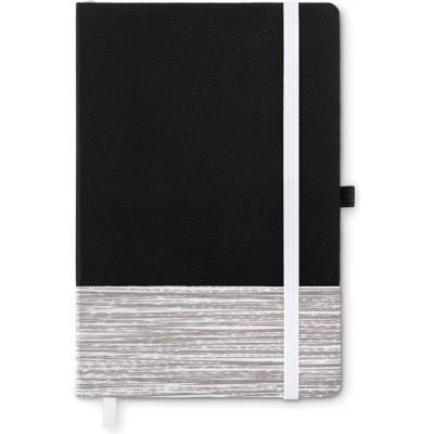 CONGO  Notatnik A5 z kolorowym elementem z włókniny (granatowy)