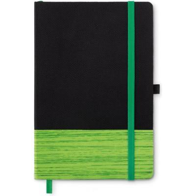 CONGO  Notatnik A5 z kolorowym elementem z włókniny (biały)