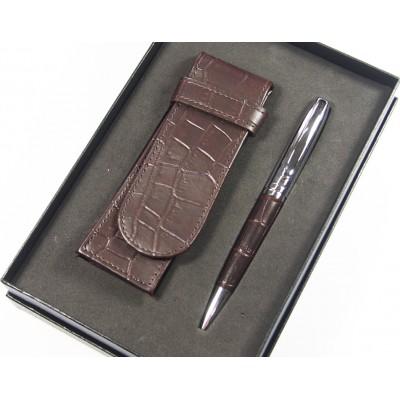 Eleganckie zestaw długopis z piórnikiem